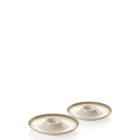 Barefoot by Arzberg Stone grey Set 2 egg cups with deposit