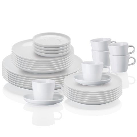 CUCINA | BASIC WHITE Kombi-Set 30 tlg.