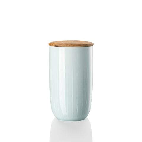 JOYN | MINT GREEN Storage box 1,0 ltr. with lid in wood