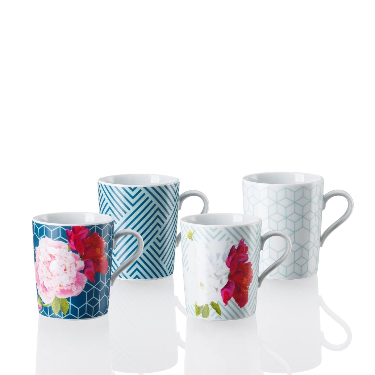 Set 4 pcs. Mug with handle